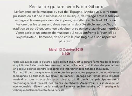 Soirée flamenco guitare