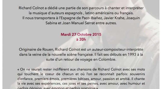 Soirée concert consacrée aux auteurs espagnols